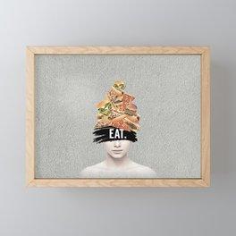 EAT collage Framed Mini Art Print