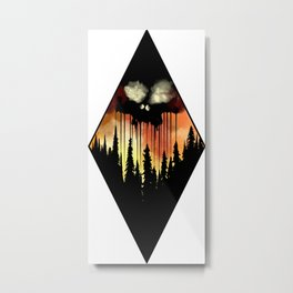 Forest Skull Metal Print