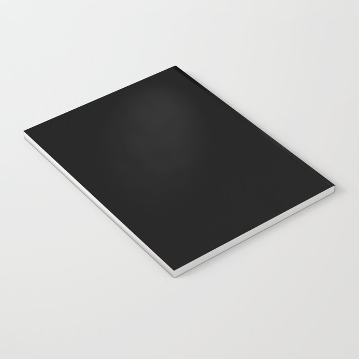 White Peony Black Background Notebook