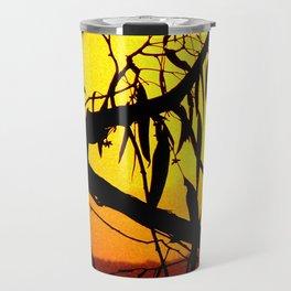 Kookaburra Silhouette Solstice Sunset Travel Mug