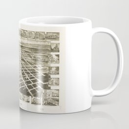 Bird's Eye View of Wilson, North Carolina (1908) Coffee Mug