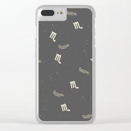 Scorpio Pattern Clear iPhone Case
