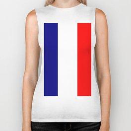 flag of france 4 Biker Tank