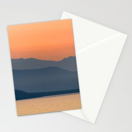 Sunset Sea Moutains Greece Stationery Cards
