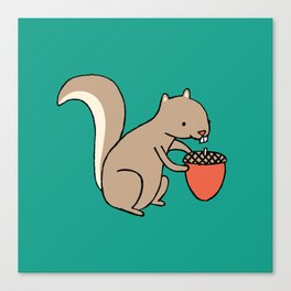 Squire squirrel Canvas Print