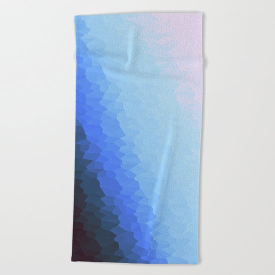 Blue Ombre Beach Towel