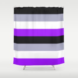 Asexual Pride Flag v2 Shower Curtain