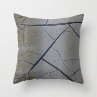 broken Throw Pillows featuring Broken by Fine2art