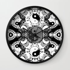YinYang Sacred Geometry Totem Wall Clock