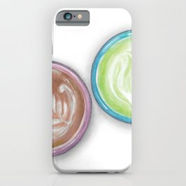bigger matcha latte art iPhone Case