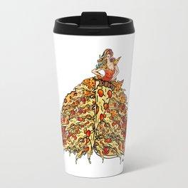 Pizza Peacock Mermaid Dress Travel Mug