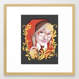 Kaitlyn of House Gryffindor Framed Art Print