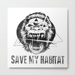 Save My Habitat Metal Print