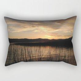 Sunset over Thompson Lake Rectangular Pillow