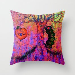 Tree spirits Throw Pillow