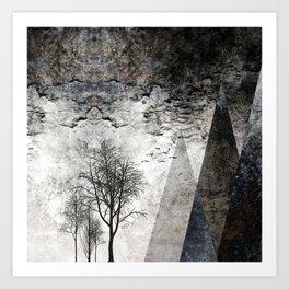 TREES besides MAGIC MOUNTAINS I Art Print