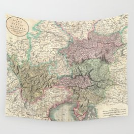 Vintage Map of Austria (1801) Wall Tapestry