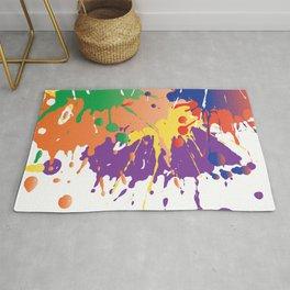 Colourful Paint splash Rug