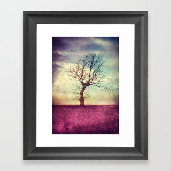 ATMOSPHERIC TREE Framed Art Print