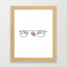 thx 4 hangin' out Framed Art Print