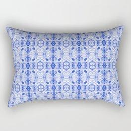 Sapphire Blue Print Rectangular Pillow