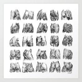 Ink Butts Art Print