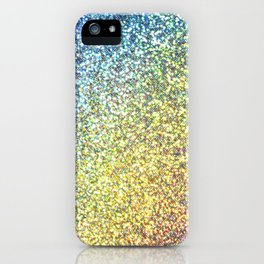 Turquoise & Gold Glitter Ombre iPhone Case