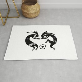 Kokopelli Soccer Game Rug