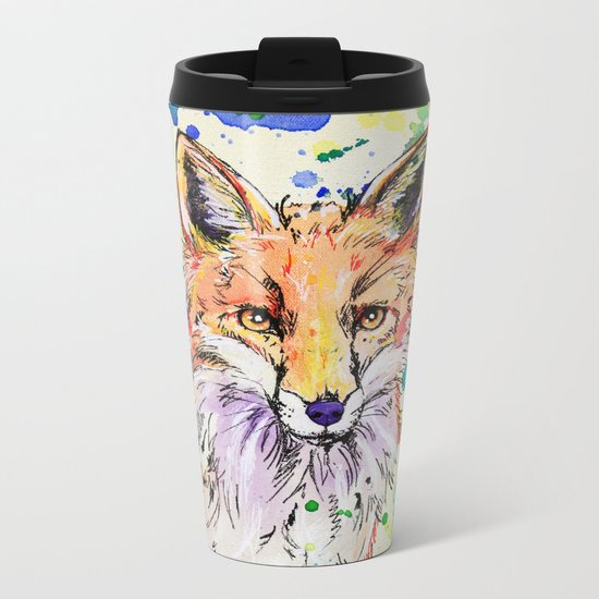 Red Tail Metal Travel Mug
