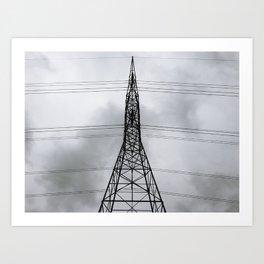 Tall Transmission Tower Thing Art Print