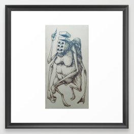 Brick-Death with a Trip-Nip Framed Art Print