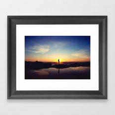 Sunset Music Framed Art Print
