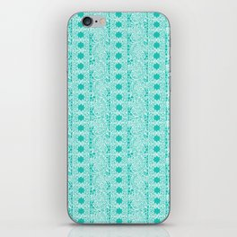 Lacey Lace - White Teal iPhone Skin
