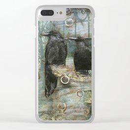 Feels Like Rain Clear iPhone Case