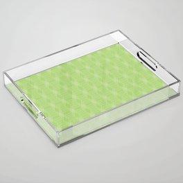 hopscotch-hex bright green Acrylic Tray