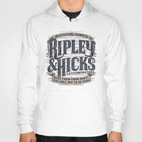 ripley Hoodies featuring Ripley and Hicks Exterminators by Doodle Dojo
