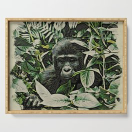 Animal ArtStudio 22516 Gorilla Baby Serving Tray