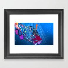 John 8/44+TheFish Nonrandom-art2 prime Framed Art Print