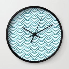 Japanese Waves Seigaiha Wall Clock