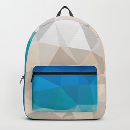 Low poly beach Backpack