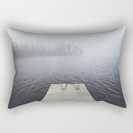 Fading into the mist Rectangular Pillow