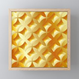 Texture with gold flowers Framed Mini Art Print