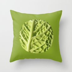 green savoy cabbage II Throw Pillow