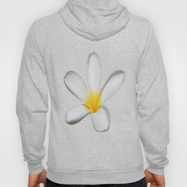 A Single Plumeria Flower Isolated Hoody
