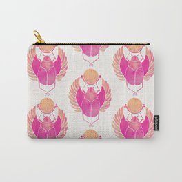 Egyptian Scarab – Pink Ombré Carry-All Pouch