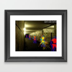 Dark side Berlin Framed Art Print