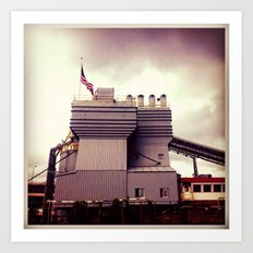Cement Factory Art Print