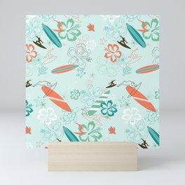 Surfs Up Blue Mini Art Print