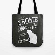 Home with Cat Tote Bag