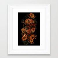flower pattern Framed Art Prints featuring Flower Pattern by Eduardo Doreni